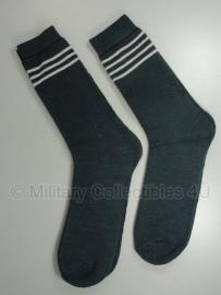 Sokken / Stiefelsocke - grijs met witte strepen - kort model - wol