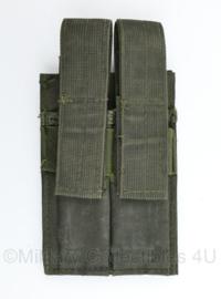 Defensie of US Army Wolf Grey MOLLE Double Mag pouch - 21 x 11,5 x 2 cm - gebruikt - origineel