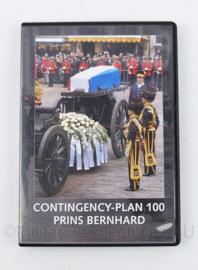Kmar Marechausee DVD Contingency plan 100 Prins Bernhard begrafenis  - 19 x 13,5 x 1,5 cm - origineel