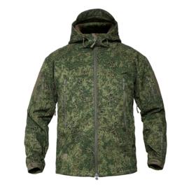 Tactical Digital Flora camo softshell jas - maat M, L of XL - nieuw gemaakt