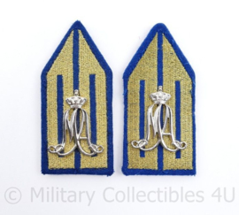 Klu Luchtmacht MA Militaire Academie kraaginsigne paar - 8,5 x 4 cm - origineel
