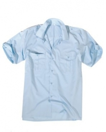 Overhemd korte mouw LICHTBLAUW