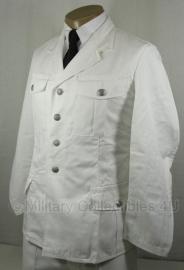 Uniform jas wit met zilveren knopen - maat Medium( borst 96-100 cm) - origineel leger
