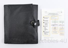 Kmar Marechaussee bonboekje met lederen cover - 15,5 x 12 x 1,5 cm - origineel