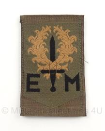 """KL Nederlandse leger 1e Divisie """"7 december""""eenheid arm embleem 8 x 5,5 cm. - met klittenband - origineel"""