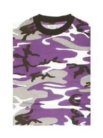 T shirt Purple urban camo