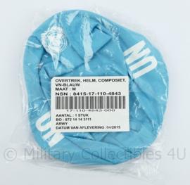 Defensie helmovertrek voor composiet helm VN blauw - NIEUW in de verpakking - zeldzaam - maat M - origineel