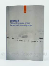 Koninklijke Marine naslagwerk - handboek leidraad militair optreden onder extreme omstandigheden - uit 2010 - origineel