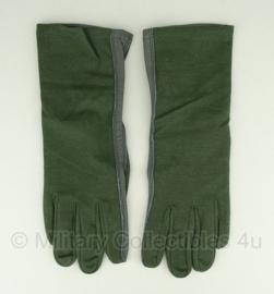 KL leger handschoenen Leder / Nomex groen Handschoen leder meta aramide - maat 8 - NIEUW - origineel