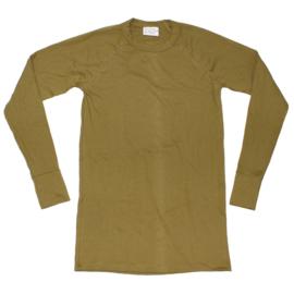 Ondershirt khaki - lange mouw  - dikke uitvoering -  origineel