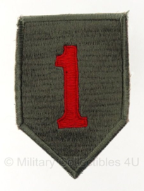 "1st Infantry Division patch - ""Big red one""- 10 x 6 cm - cut edge versie"