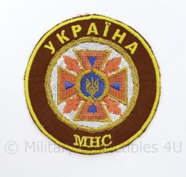 Oekraïense brandweer embleem MHC Ykpaiha  - diameter 10 cm  - origineel