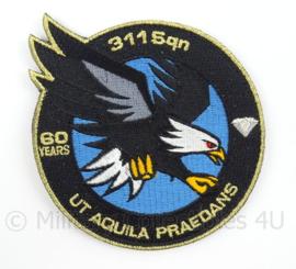 KLu Luchtmacht eenheid embleem 60 years 311 squadron - met klittenband - doorsnede 10 cm - origineel