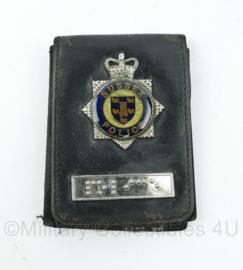 Britse Politie brevet in lederen houder Sussex Police - 11 x 8 cm - origineel