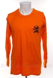 KL Nederlandse leger oranje sportshirt 1988 - lange mouw - maat 6 - origineel