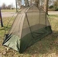 Anti-muggen Dome tent Klamboe enkel-dome model met GROENE  tas - Nederlandse leger - origineel
