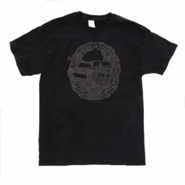 T shirt met Duits Panzertruppe insigne - zwart