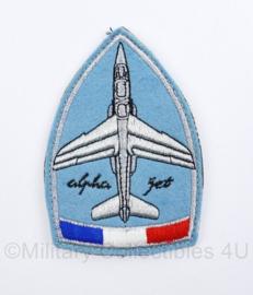 Franse Luchtmacht Alphajet embleem - met klittenband - 11 x 7 cm - origineel