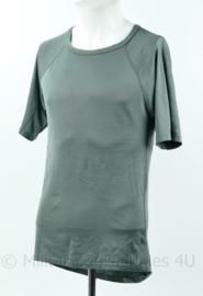 Nederlandse leger proefmodel onderkleding vochtregulerend shirt kort mouw grijs - maat Medium - origineel