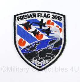 KLU Luchtmacht embleem Frisian Flag 2015 - met klittenband - 10 x 8,5 cm - origineel