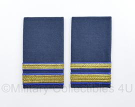KLU Koninklijke Luchtmacht GLT Gala uniform epauletten paar - Eerste-Luitenant - origineel