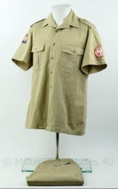 Nederlandse leger overhemd mt 40 - met lange broek mt 50 - Sinaai missie - origineel
