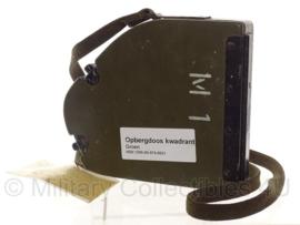 Metalen Lege opbergdoos kwadrant M1 voor artillerie geschut - origineel Nederlands leger