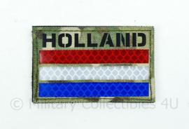 Nederlandse leger infrarood patch - Multicam - met klittenband - HOLLAND  - 5 x 8 cm
