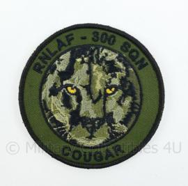 KLU Luchtmacht RNLAF 300 SQN squadron Cougar embleem - met klittenband - diameter 9 cm