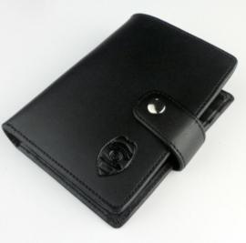 Police Officier Anchorage Alaska ID- en kaarthouder portemonnee met opdruk - zwart leder - 11,5 x 8,7 cm - nieuw gemaakt