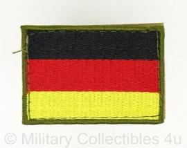 Uniform landsvlag Duitsland stof - met klittenband -7,2 x 5 cm.