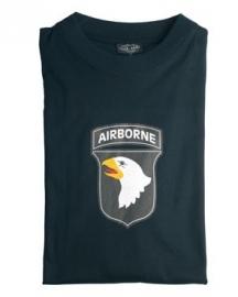 T shirt 101st airborne - zwart