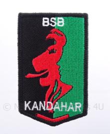 """KMAR Koninklijke Marechaussee BSB Brigade Speciale Beveiligingsopdrachten """"kandahar"""" embleem - met klittenband - afmeting 5 x 8,5 cm"""