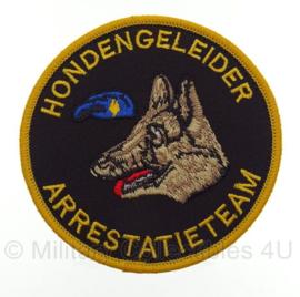 Arrestatieteam hondengeleider embleem - met klittenband - 9 x 9 cm