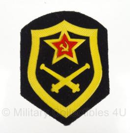 Russische USSR Artillery  arm embleem - 8,5 x 6,5 cm - origineel