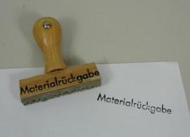 """Stempel """"Materialrückgabe"""""""
