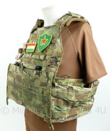Multicam Crye Precision plate carrier YPJ Peshmerga inclusief insignes en toebehoren - Multicam - maat Large - zeldzaam - gebruikt - zonder tassen - origineel