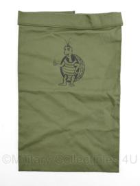 Defensie halsdoek onbekend groen met schildpad - 36 x 23 cm - nieuw - origineel
