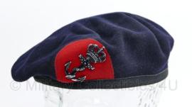 Korps Mariniers baret met insigne - maker Hassing - maat 58/59/60 - origineel