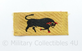 WW2 British Army 11th Armoured Infantry Division patch ENKEL - 7,5 x 3 cm - origineel