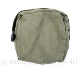 Nederlands leger groene MOLLE Utility pouch Green  voor aan het vest - 14 x 14 x 6 cm - origineel
