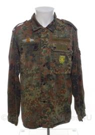 Bundeswehr flecktarn camo uniform jas met onderscheidingen - 7585/9000  - origineel