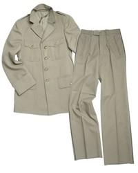 Frans officiers uniform met broek - Groen - dikke stof - origineel