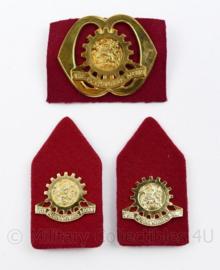 Defensie baret en kraag insigne set Technische Staf - 3 delige set - origineel