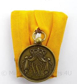 KL MVD Ministerie van Defensie moderne Trouwe dienst medaille - Brons - afmeting 4 x 6 cm - origineel