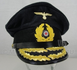 kriegsmarine schirmmutze - donkerblauw - admiraal - 57 tm. 60 cm.