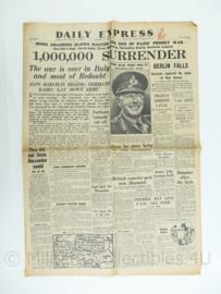 Daily Express krant - May 3, 1945 - origineel
