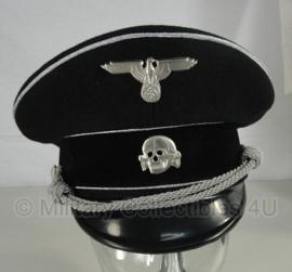 Algemeine ss Schirmmütze wol - officieren en generaals - 58, 59 of 60 cm. - zilveren bies
