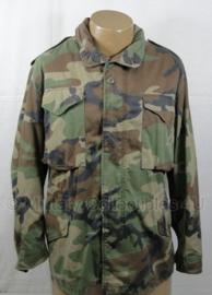 US M65 Woodland Coat, Cold Weather M65 parka met voering - maat Large-Regular - origineel