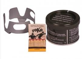 Kooksetje brandertje met lucifers 170-210  gram. extra groot model - Zwitsers - ook voor META koker - compleet